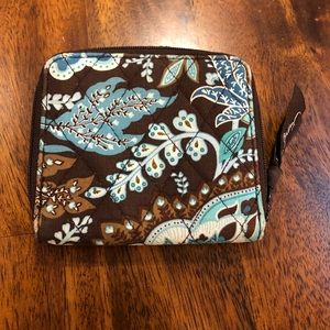 Vera Bradley Wallet Change purse Quilted Java Blue